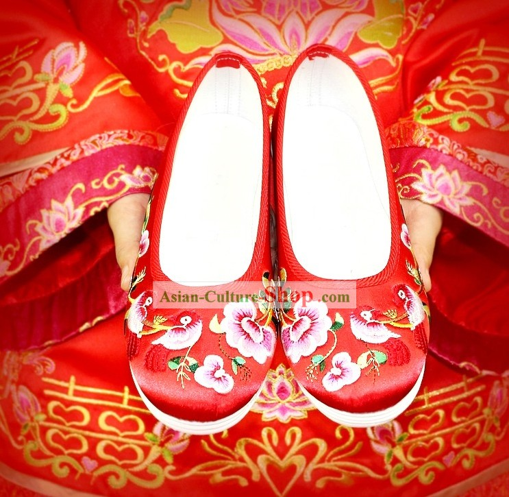 Chinese Classical Embroidered Cloth Wedding Shoes for Women