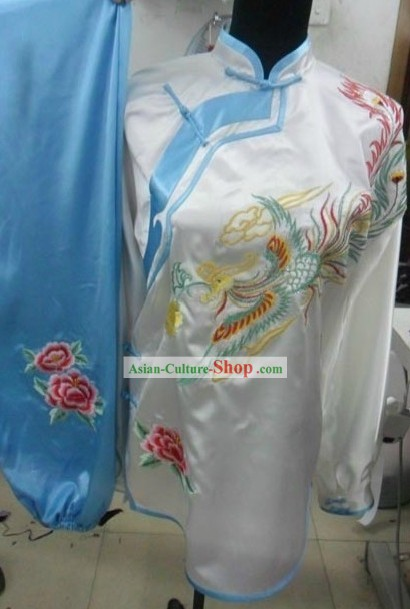 Traditional Phoenix Silk Tai Chi Suit for Women