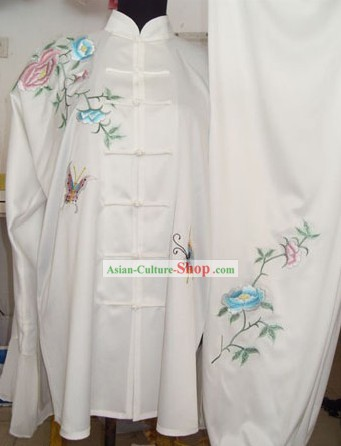 White Chinese Martial Arts Competitions Uniform for Women