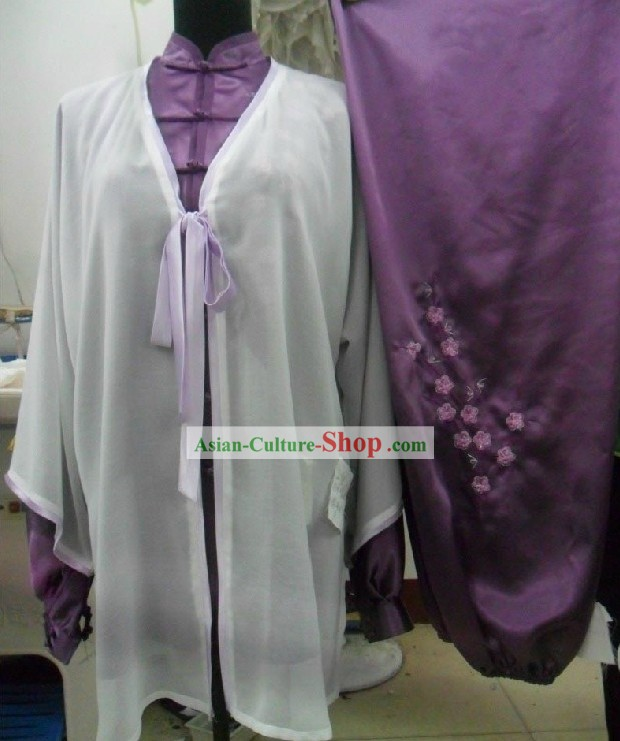 Chinese Traditional Silk Dragon Tai Chi Clothing for Women