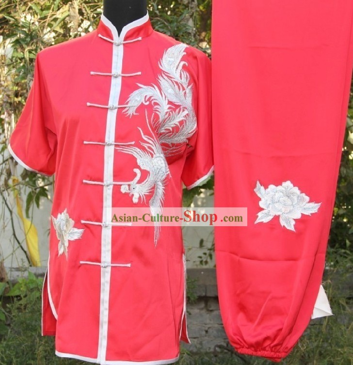 Comfortable Phoenix Kung Fu Silk Uniform for Competition