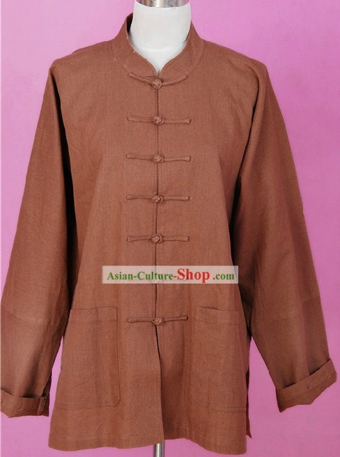 Chinese Classic Flax Martial Arts Blouse