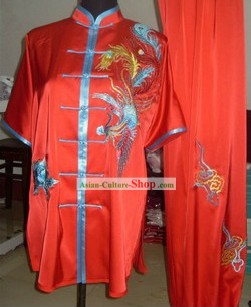Traditional Red Phoenix Wushu Championship Uniform