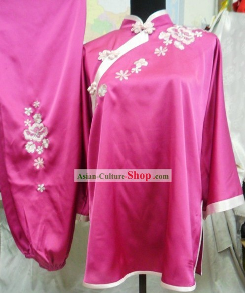 Stunning Mandarin Silk Kung Fu Dress for Women