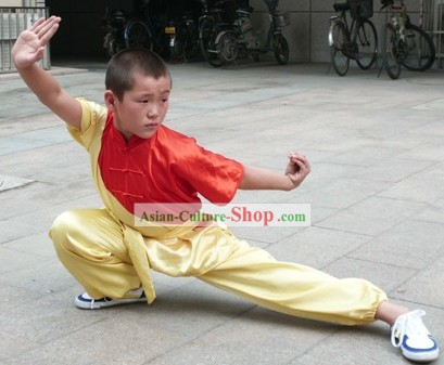 Silk Kung Fu Competition Uniforms for Children