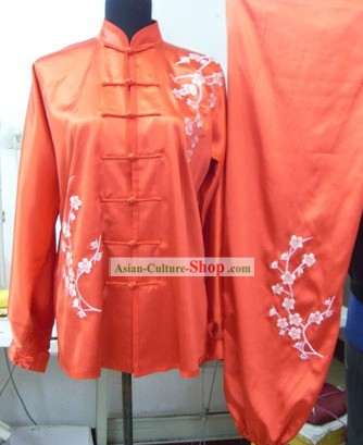 Traditional Chinese Tai Chi Silk Embroidery Uniforms for Women