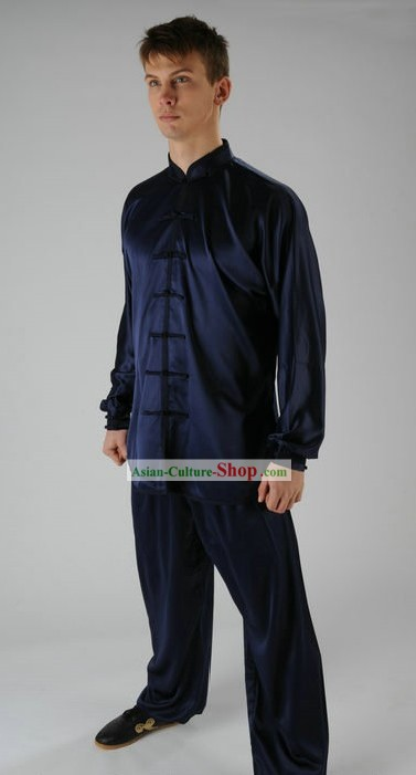 Traditional Chinese Kung Fu Silk Suit for Men