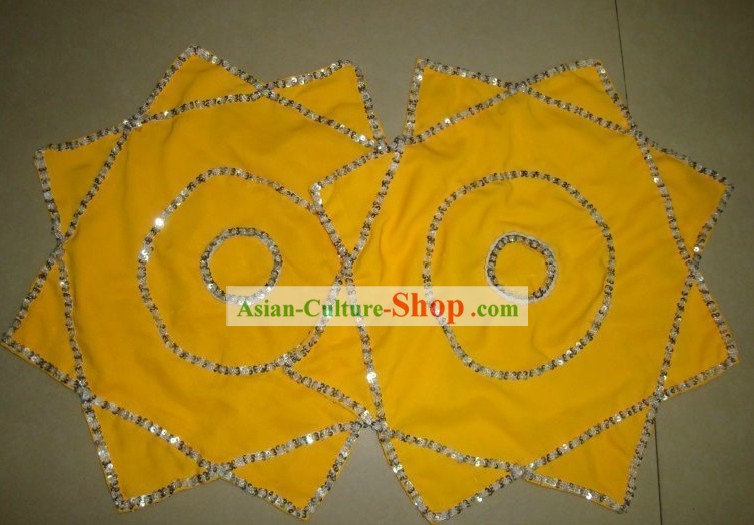 Traditional Chinese Yellow Dance Handkerchief
