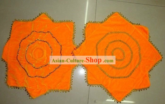 Traditional Chinese Orange Dance Handkerchief