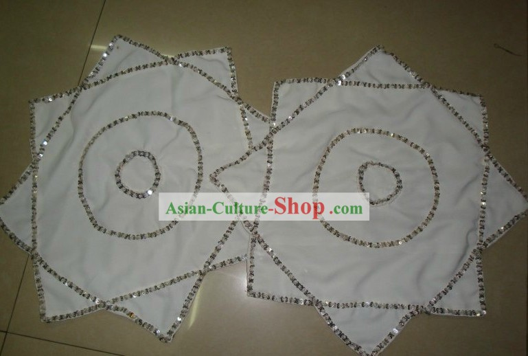 Traditional Chinese White Dance Handkerchief