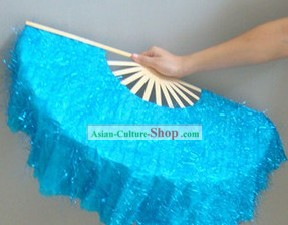 Chinese Classic Shinning Blue Dancing Fan
