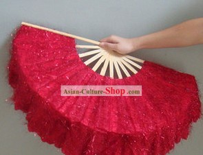 Chinese Classic Shinning Red Dancing Fan