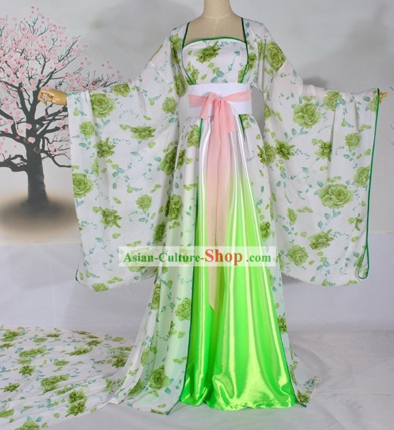 Ancient Chinese Tang Dynasty Female Palace Clothing Complete Set for Women