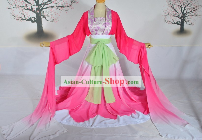 Ancient Chinese Color Transition Palace Dancing Costume Complete Set