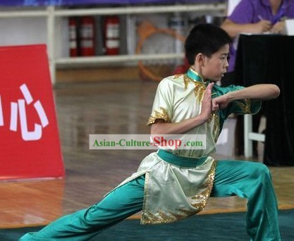Chinese Silk Tai Chi Competition Clothes for Children