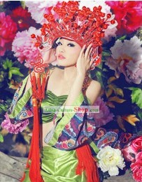 Chinese Red Wedding Phoenix Crown
