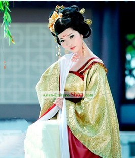 Tang Dynasty Yang Guifei Clothing and Headpieces