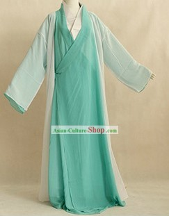Ancient Chinese Fairytale Character Green Costumes for Women
