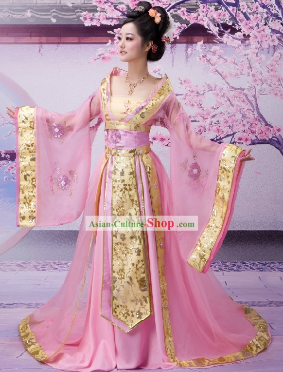 Ancient Chinese Palace Empress Costumes Complete Set for Men