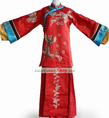 Chinese Classic Wedding Phoenix Clothes Complete Set