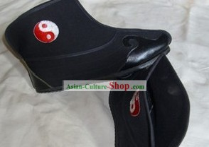 Traditional Chinese Black Taoist Tai Chi Cloud Boots