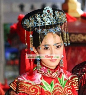 Ancient Chinese Wedding Phoenix Headpieces for Brides