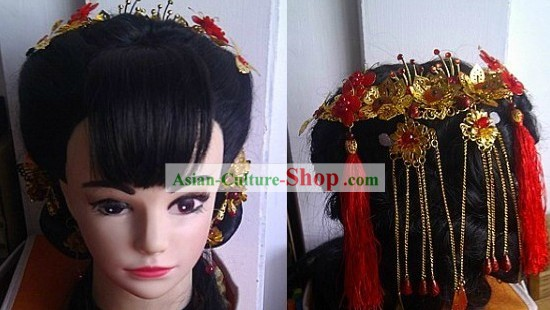 Traditional Chinese Wedding Ceremony Hair Accessories for Brides