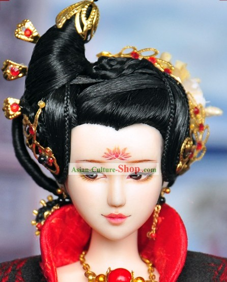 Ancient Chinese Palace Queen Hair Accessories and Wig