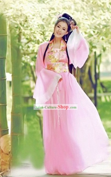 Ancient Chinese Pink Lady Costumes for Women