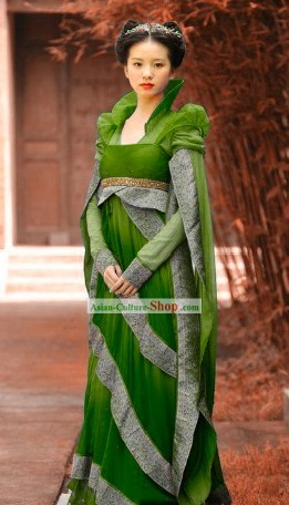 Ancient Chinese Green Fairy Costumes Complete Set