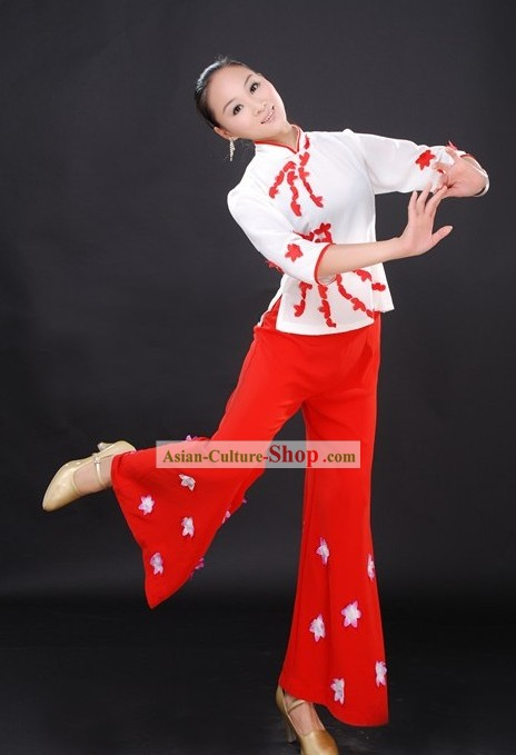 16585. Chinese Ethnic Han Dance Clothes for Women