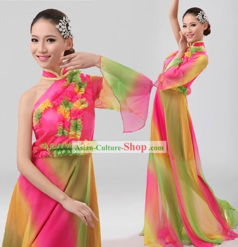 Traditional Chinese Yangge Fan Dancing Costumes for Women