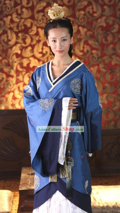 Ancient Chinese Clothing and Coronet Complete Set for Women