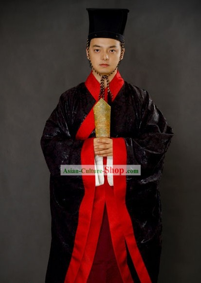 Ancient Chinese Wedding Clothing and Hat for Men