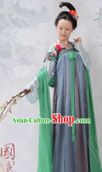 Ancient Chinese Tang Dynasty Palace Women Clothes 4 Sets