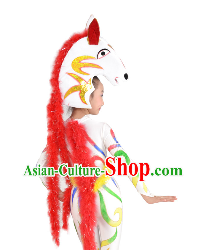 Chinese Horse Dance Costume and Head for Children