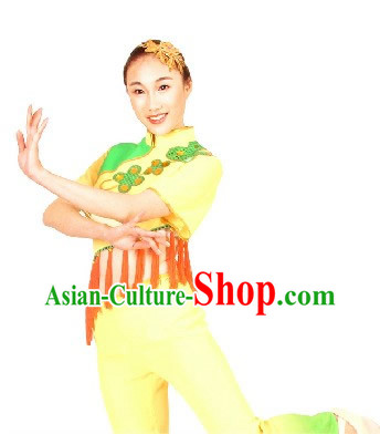 Chinese Folk Yangge Festival Celebration Dance Costume and Headpiece for Women