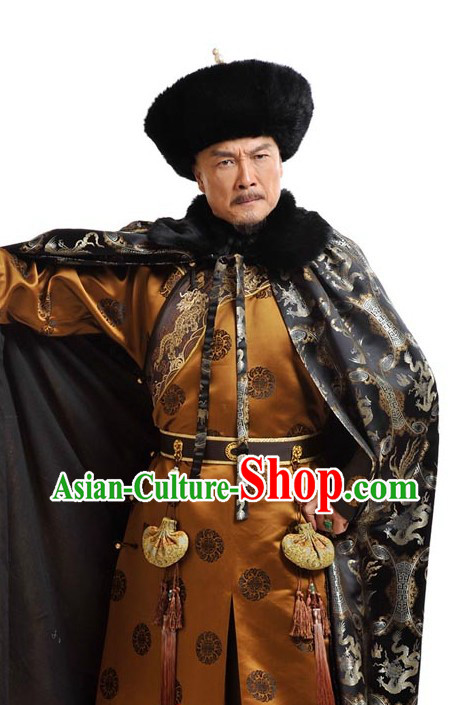 Qing Dynasty Kang Xi Chinese Emperor Dragon Cape