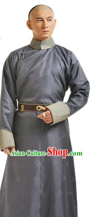 Traditional Chinese Qing Dynasty Bu Bu Jing Xin Palace Prince Clothing for Men