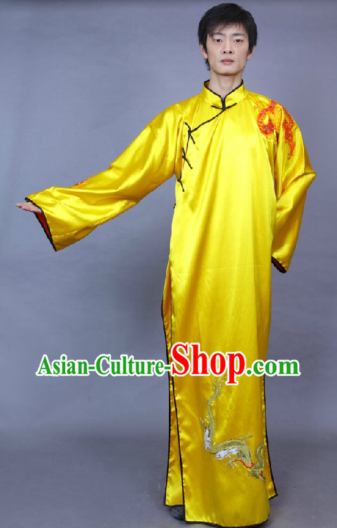 Traditional Chinese Long Dragon Robe for Men