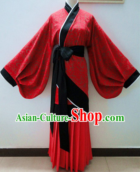 Ancient Chinese Han Dynasty Wide Sleeve Clothing for Women