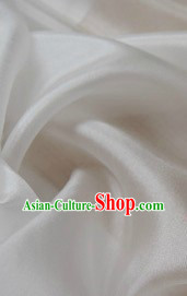 Chinese Classical Pure White Silk Fabric