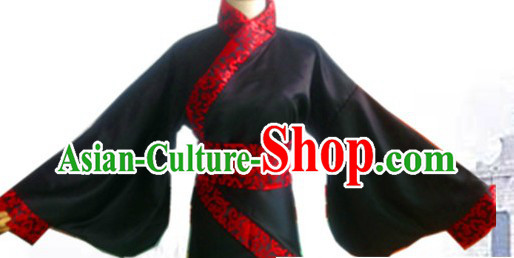 Ancient Chinese Black Gu Zhuang Clothing for Women