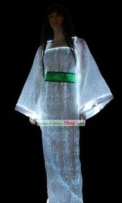 Electric LED Glowing Hanfu Clothing Complete Set
