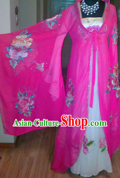 Ancient Chinese Imperial Concubine Peony Costumes Complete Set for Women