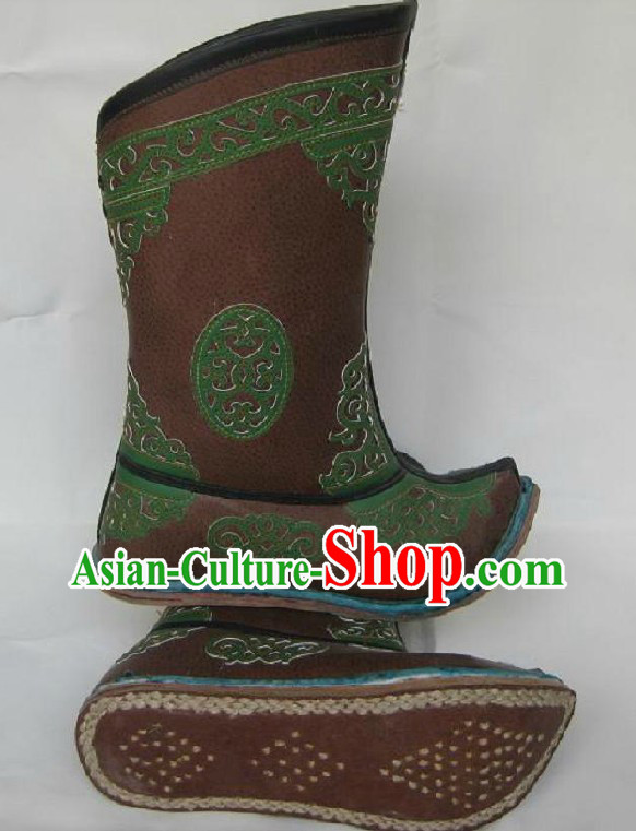 Handmade Classic Mongolian Cowhide Boots for Men