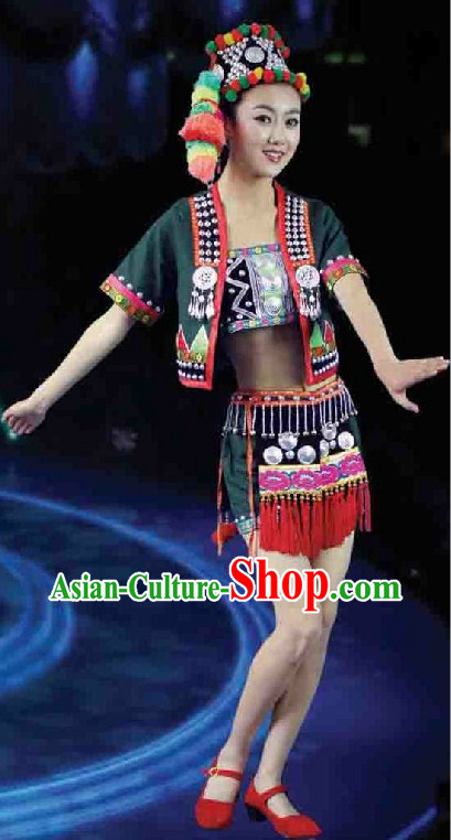 Hani Ethnic Female Clothes and Hat Complete Set