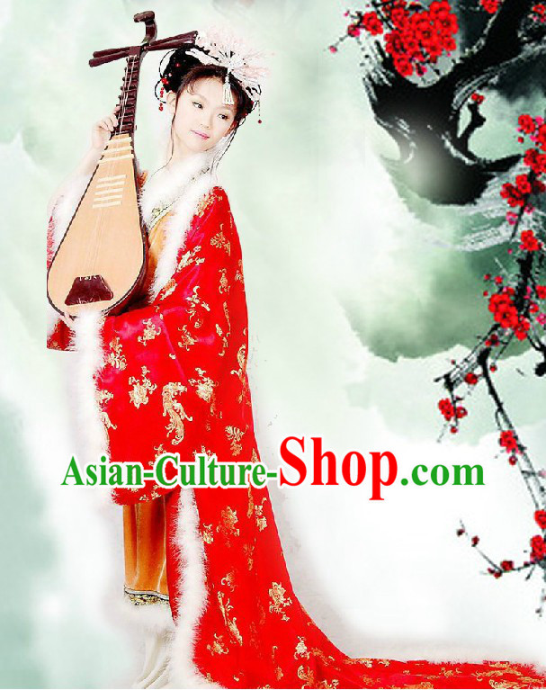 Traditional Chinese Red Wedding Phoenix Cape