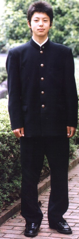 Traditional Japanese Black Gakuran Uniform for Men