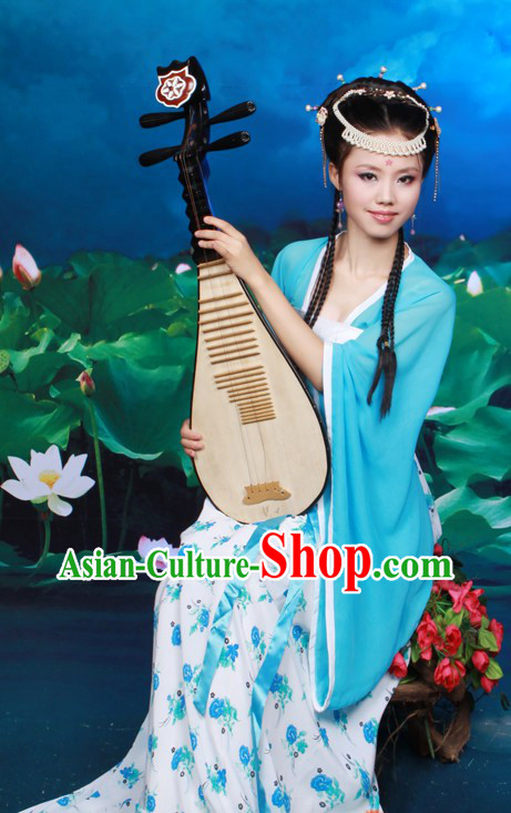 Traditional Chinese Musician Hanfu Clothes for Women
